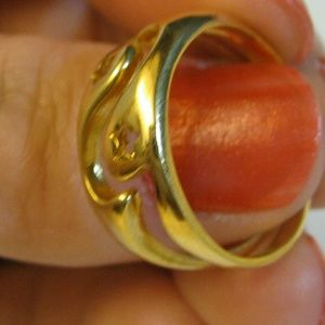 Jewelry - New 18K Gold Filled (2 piece) Thick Ring Stars 7.5